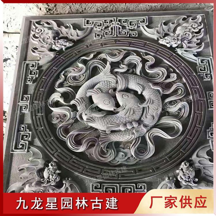 石雕八宝浮雕图片