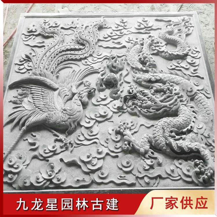 石雕凤凰浮雕图片