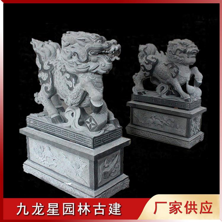 石雕麒麟图片
